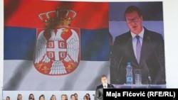 Predsednik Srbije Aleksandar Vučić u Severnoj Mitrovici