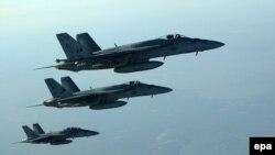 مقاتلات أميركية في أجواء العراق خلال مهمة لضرب مواقع داعش