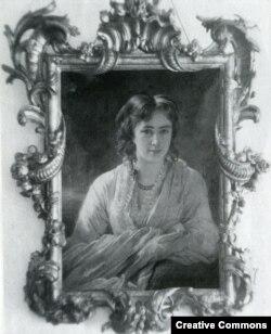 Мария Бутенева (в замужестве Барятинская). Портрет работы Винтергальтера, 1864