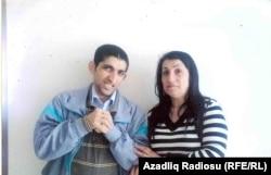 Solmaz Abbasova və oğlu Emin Abbasov