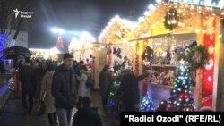 Новогодний базар в центре города Душанбе