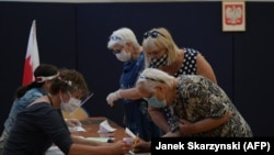Голосование в Варшаве. 28 июня 2020 года