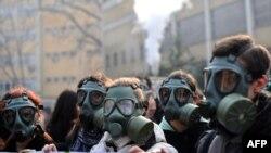 Pamje nga një protestë për mbrojtje të ambentit në Shkup