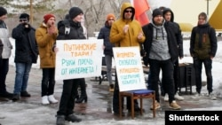 Россия. Во время акции за свободу интернета в Магнитогорске, 10 марта 2019 года