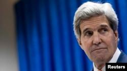 Իրաք - ԱՄՆ-ի պետքարտուղար Ջոն Քերրին Բաղդադում ասուլիսի ժամանակ, 23-ը հունիսի, 2014թ․