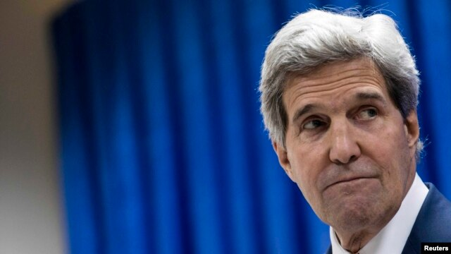 "U.S. Secretary of State John Kerry said U.S. support for Iraq ""will be intense [and] sustained,"" but called for political unity."