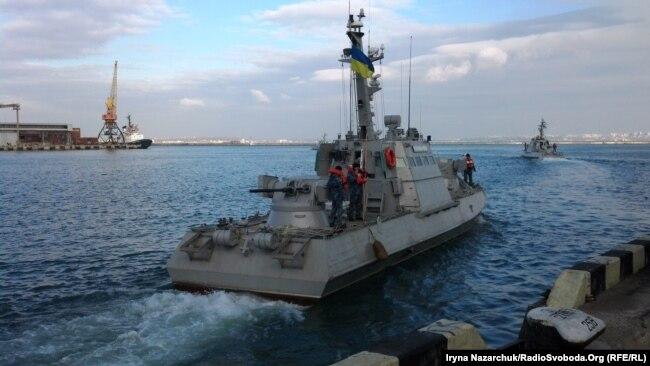 Малий броньований артилерійський катер ВМС України в порту Одеси