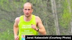 Юрась Каласоўскі на чарговым маратоне ў Польшчы