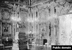 Янтарная комната. Большой Екатерининский дворец. Пушкин. Фото начала 20 века