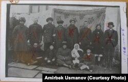 Херсон жеринде сүргүндө жүргөн кыргыздар.