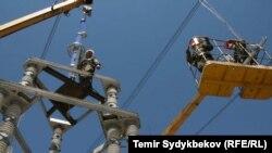 Кыргызстандын электр тармактары. Иллюстрациялык сүрөт.