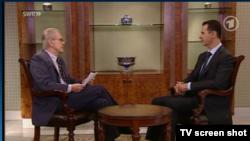 Башар Асад во время интервью ARD