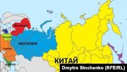 Інфографіка щодо можливої зміни кордонів на Євразійському континенті. Ілюстрацію взято зі статті: http://goo.gl/RKI7FC