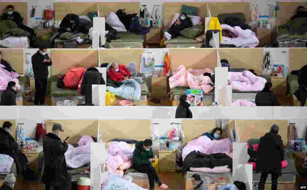 Люди з симптомами коронавірусу перебувають на карантині у китайському місті Ухань, лютий 2020 року. Коронавірус убив понад 3 тисячі людей в Китаї, але до цих пір невідомо, де і як він насправді виник.