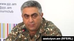 Пресс-секретарь Министерства обороны Армении Арцрун Ованнисян (архив)