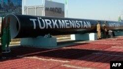 Часть строящегося газопровода Туркменистан - Китай. 30 августа 2007 года.