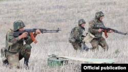 Nagorno-Karabakh -- Karabakh Armenian troops hold exercises, undated