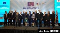 Peter Michalko, Pavel Filip, Igor Dodon, și invitații la recepția de stat de la Chișinău cu ocazia Zilei Europei