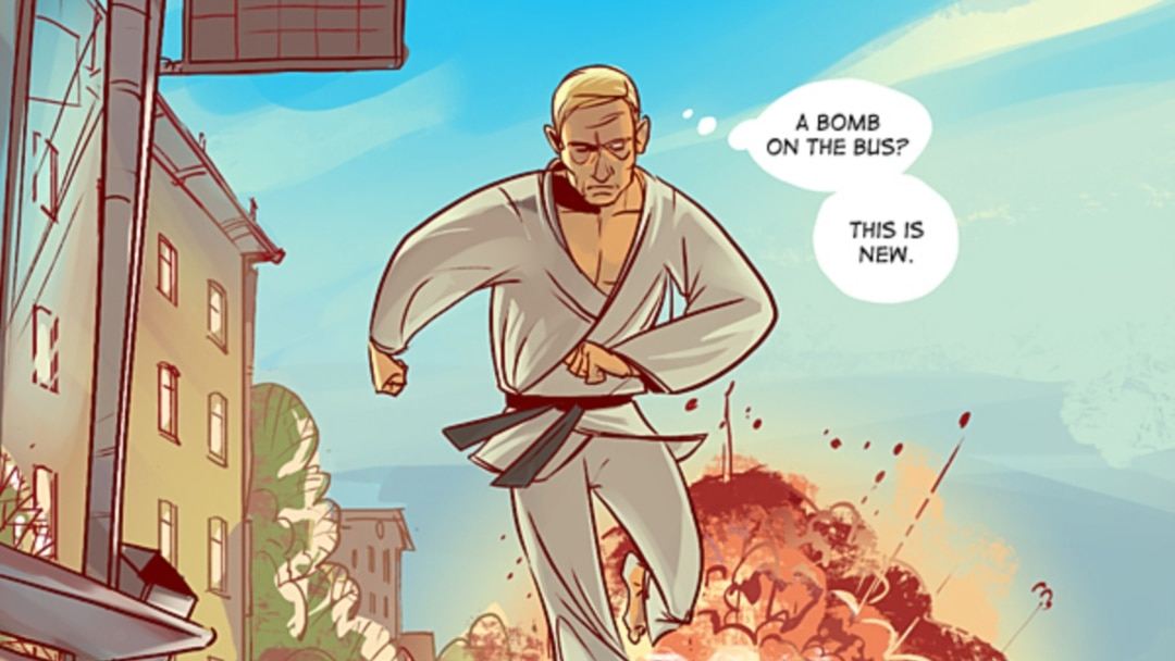 Comic Strip Casts Putin Medvedev As Superheroes