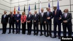 وزراء خارجية القوى العالمية يعلنون التوصل الى الإتفاق النووي مع إيران