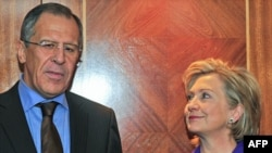U.S. Secretary of State Hillary Clinton and Russian Foreign Minister Sergei Lavrov discussed the Iranian nuclear program at a January 27 meeting in London.