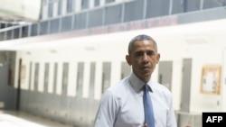 Presidenti amerikan, Barack Obama, gjatë një vizite në një institucion korrektues në Oklahoma, 16 korrik 2015.
