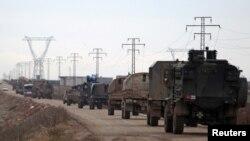 Турецький військовий транспорт їде до Ель-Баба, 9 січня 2017 року