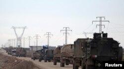 Турецька військова техніка рухайється у напрямку міста Аль-Баб, Сирія, 9 січня 2017 року