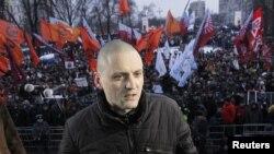 Лідер Лівого фронту Сергій Удальцов перед опозиційною акцією за чесні виборри в Росії, 2012 рік