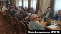 Седница на Комисијата за именување на седница за разрешување на Катица Јанева