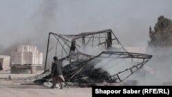 آتشسوزی در بندر اسلامقلعه در هرات
