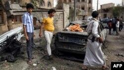 یک منطقه در صنعا پایتخت یمن که توسط عربستان بمباران شده است (عکس از آرشیو)