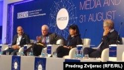 Mediji i terorizam, OSCE konferencija, panelisti na sesiji o izvještavanju o terorizmu u medijima, septembar 2018.