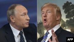 A combo photo of Russian President Vladimir Putin (left) and U.S. President Donald Trump