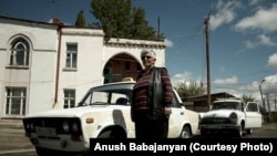 """Tikush"" is one of the few women who drive taxis in Armenia."