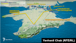 Схема поставок газу зі Стрілківського родовища до Крим і Генічеська