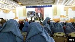 Ауғанстанда әйелдер семинарында түсірілген сурет. 8 наурыз 2011 жыл.