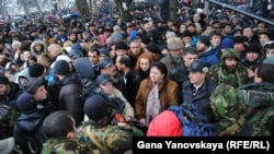 Вечером 9 февраля 2012 года, накануне объявленной Джиоевой инаугурации, был дан приказ о силовом захвате ее предвыборного штаба