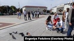 """""""Кормление голубей"""" в Калининграде 8 августа"""
