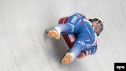 Tatyana Ivanova of Russia compete's at last year's Luge World Cup.