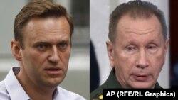 Aleksei Navalny (solda) və Viktor Zolotov
