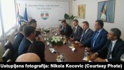 Susret Bakira Izetbegovića i gradonačelnika Novog Pazara Nihata Biševca