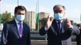 Tajikistan, Dushanbe city, Emomali Rahmon and his son Rustami Emomali 10 July 2020