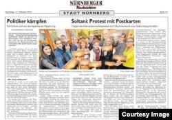 بازتاب همبستگی وکلای آلمانی به عبدالفتاح سلطانی در نشریات آلمان