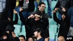 София қаласының стадионында өткен Болгария мен Англия матчындағы болгар жанкүйерлері. 14 қазан 2019 жыл.