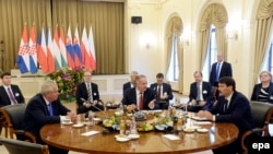 Hungary -- Presidents of the Visegrad Group meet in Budapest, October 8, 2015