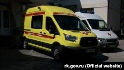 Реанімобілі опорного пункту «швидкої допомоги» у Форосі