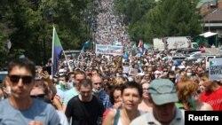 Массовая манифестация в поддержку Сергея Фургала в Хабаровске. 18 июля 2020 года