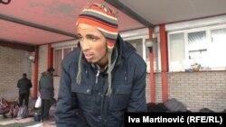 Jedan od migranata na Železničkoj stanici u Beogradu