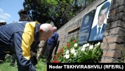 Yuri Vazagashvili was killed by a bomb at his son's grave.